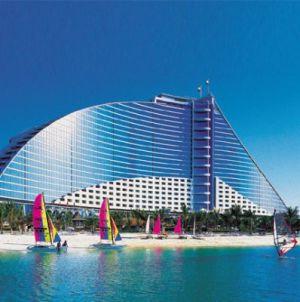 Il tratto di mare davanti lo Jumeirah Beach Hotel